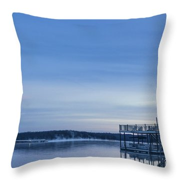 Early Morning At The Lake Throw Pillow