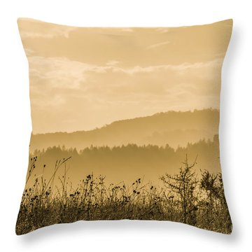 Early Morning Vitosha Mountain View Bulgaria Throw Pillow