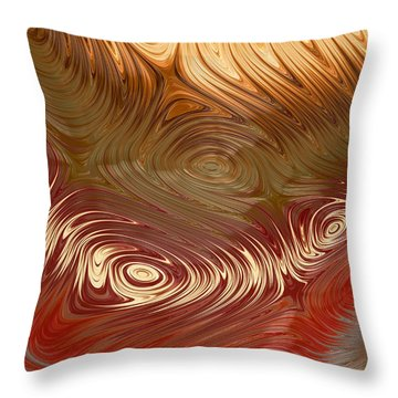 Earth Tones Throw Pillow by Heidi Smith