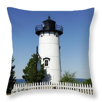 East Chop Lighthouse Throw Pillow by John Greim