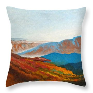 East Fall Blue Ridge Mountains 2 Throw Pillow by Catherine Twomey