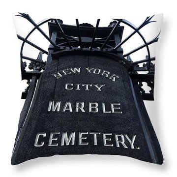 East Village Cemetery Throw Pillow by Natasha Marco