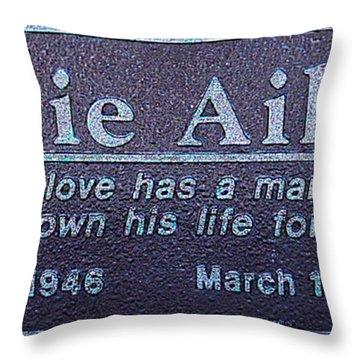 Throw Pillow featuring the photograph Eddie Aikau Plaque by Leigh Anne Meeks
