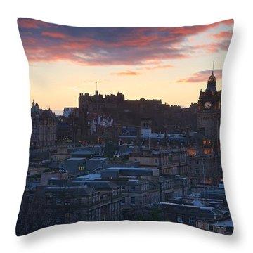 Edinburgh Skyline Throw Pillow by Stephen Taylor