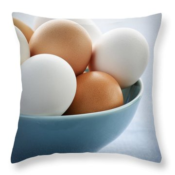 Eggs In Bowl Throw Pillow
