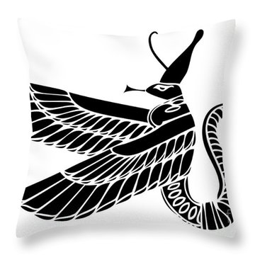 Egyptian Demon Throw Pillow