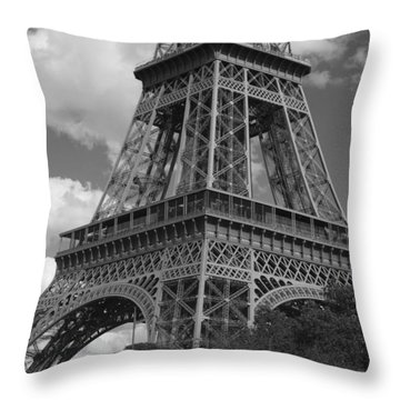 Throw Pillow featuring the photograph Eiffel Tower by Ivete Basso Photography