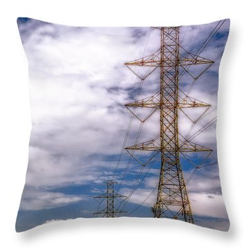 Electric Polls Throw Pillow