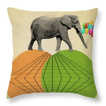 Elephant  Throw Pillow by Mark Ashkenazi