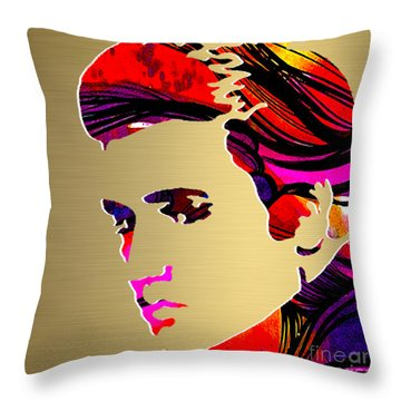 Elivs Gold Series Throw Pillow