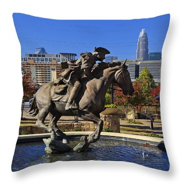 Elizabeth Park At Charlotte Throw Pillow