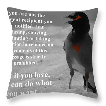 Common Myna Throw Pillows