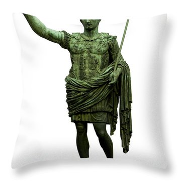 Emperor Caesar Augustus Throw Pillow