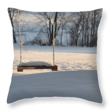 Throw Pillow featuring the photograph Empty Swing by John Black