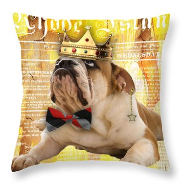 English Bulldog Bowtie Collection Throw Pillow