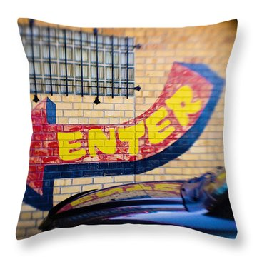 Enter Throw Pillow by Scott Pellegrin