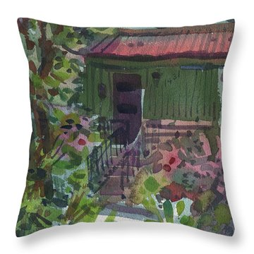 Throw Pillow featuring the painting Entrance by Donald Maier