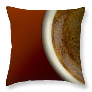 Espresso Throw Pillow by Chevy Fleet
