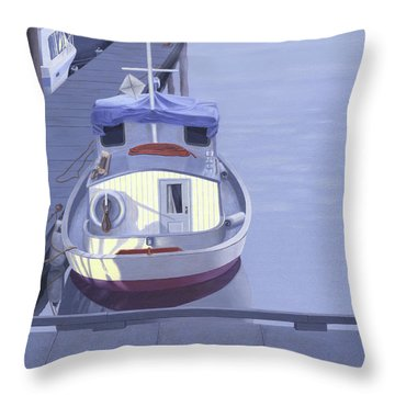 Evening At Port Hardy Throw Pillow