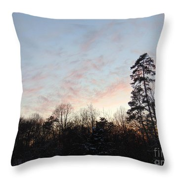 Evening Sunset Throw Pillow by Charlotte Gray