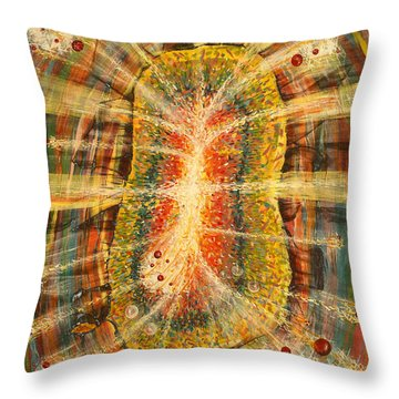 Fabric Of Life Throw Pillow