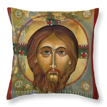 Face Of Christ Throw Pillow
