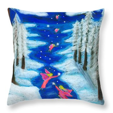 Faery Merry Christmas Throw Pillow