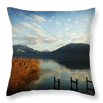Throw Pillow featuring the photograph Fairies Lake by Barbara Orenya