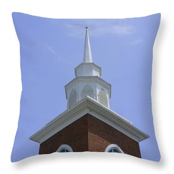 Faith Throw Pillow by Laurie Perry