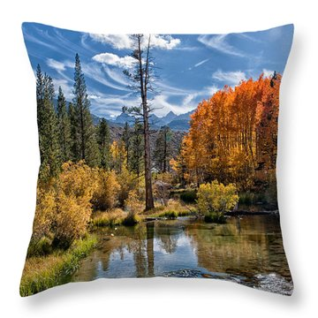 Fall At Bishop Creek Throw Pillow