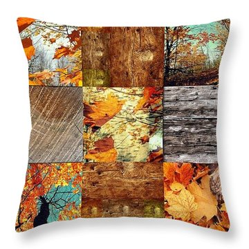 Fall  Throw Pillow by France Laliberte