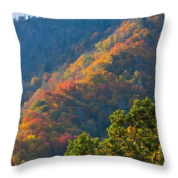 Fall Smoky Mountains Throw Pillow
