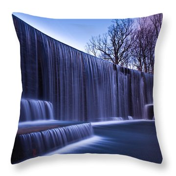 Throw Pillow featuring the photograph Falling Water by Mihai Andritoiu