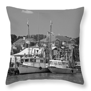 Family Thing - Black And White Throw Pillow by Suzanne Gaff