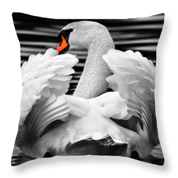 Throw Pillow featuring the photograph Fancy Feathers 2 by Brian Stevens