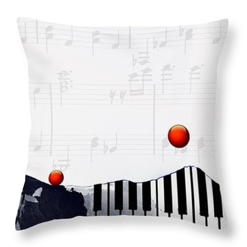 Fantasia - Piano Art By Sharon Cummings Throw Pillow by Sharon Cummings
