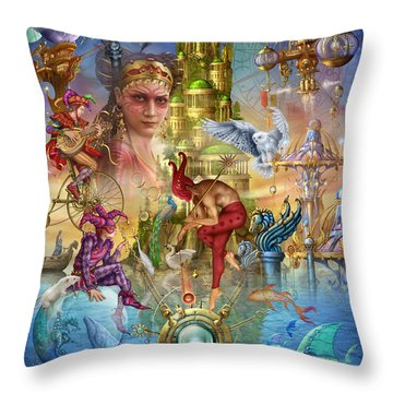 Fantasy Island Throw Pillow by Ciro Marchetti