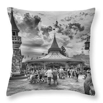 Throw Pillow featuring the photograph Fantasyland by Howard Salmon