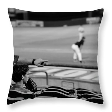 Father To Son Throw Pillow by Laura Fasulo
