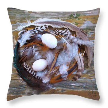 1. Feather Wreath Example Throw Pillow