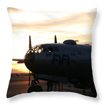 Throw Pillow featuring the photograph Fi-fi by David S Reynolds