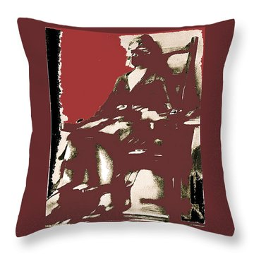 Film Homage Picture Snatcher Number 1 1933 Ruth Snyder Execution January 1928-2013 Throw Pillow