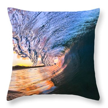 Fire And Ice Throw Pillow by Sean Davey