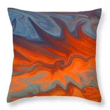 Fire Throw Pillow by Carol Lynch