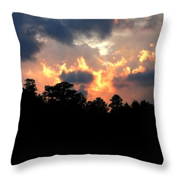 Throw Pillow featuring the photograph Fire In The Sky by Craig T Burgwardt