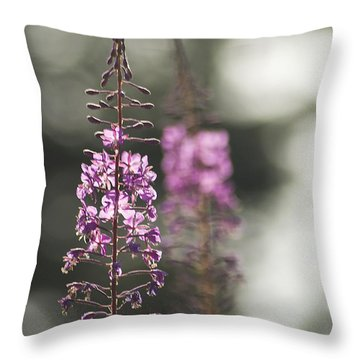 Throw Pillow featuring the photograph Fireweed by Yulia Kazansky