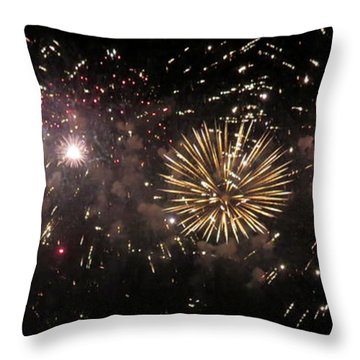 Fireworks 14 Throw Pillow by France Laliberte