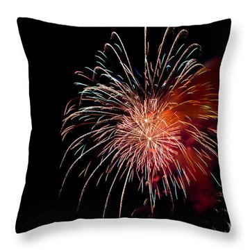Fireworks Throw Pillow by Grace Grogan