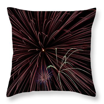 Fireworks Throw Pillow by Jason Meyer