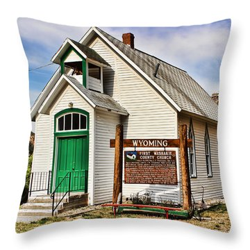First Washakie County Church Throw Pillow